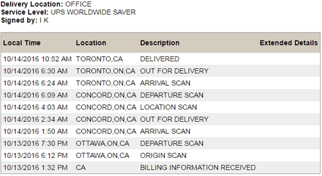 Step 5. Tracking you packages